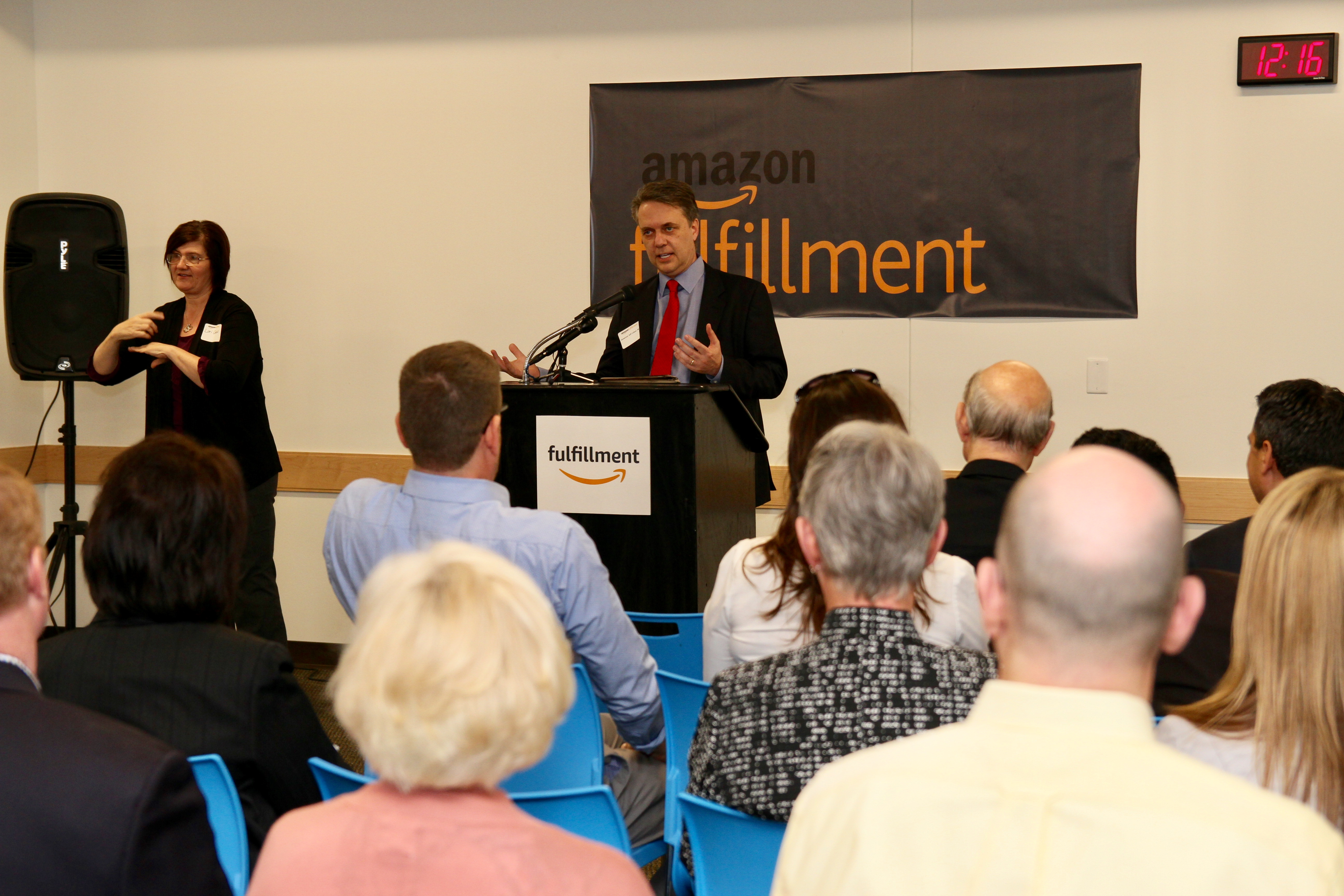 Governor Jeff Colyer, M.D. Attends Grand Opening of New Amazon Fulfillment Center