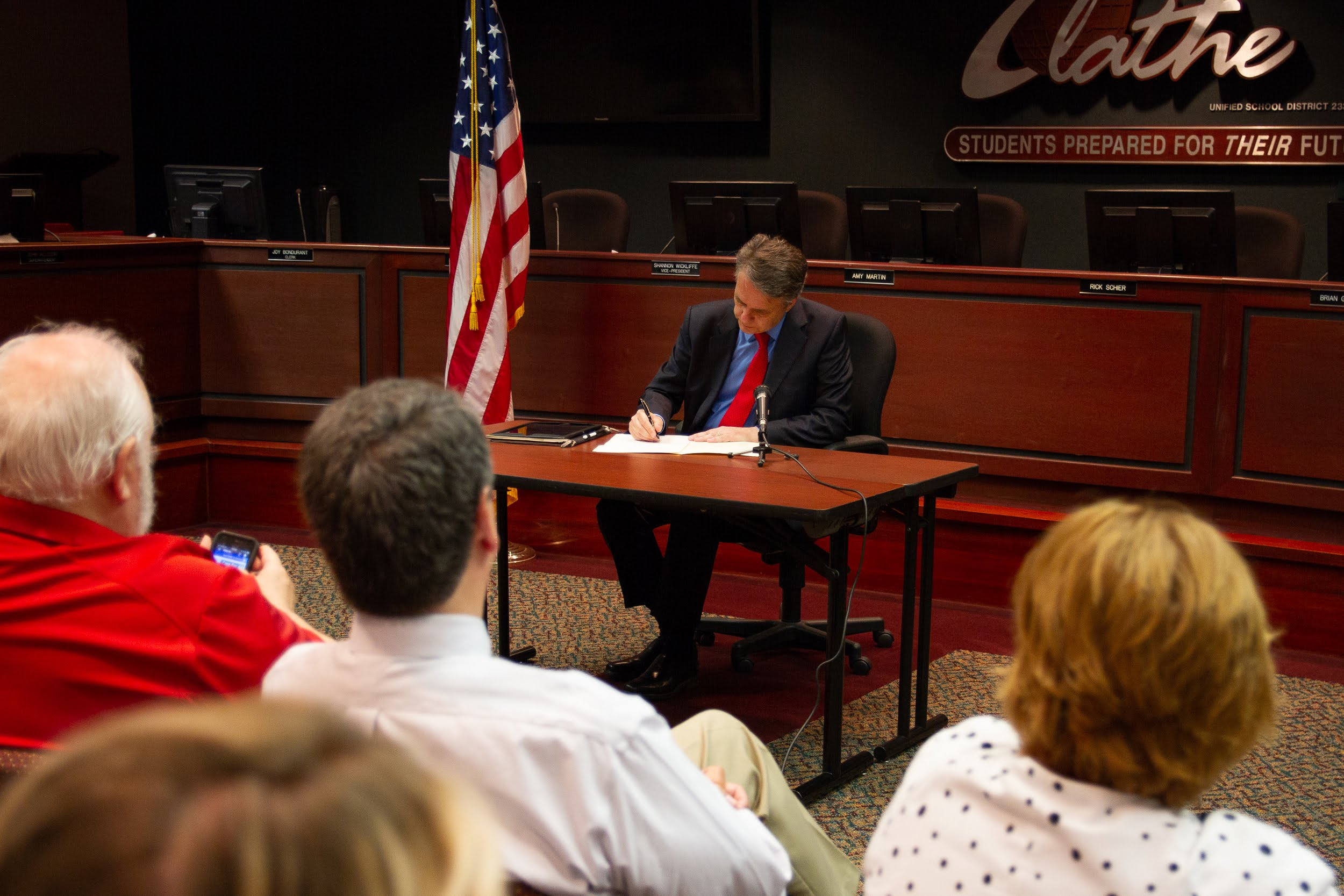 Governor Jeff Colyer Signs School Finance Bill Fix